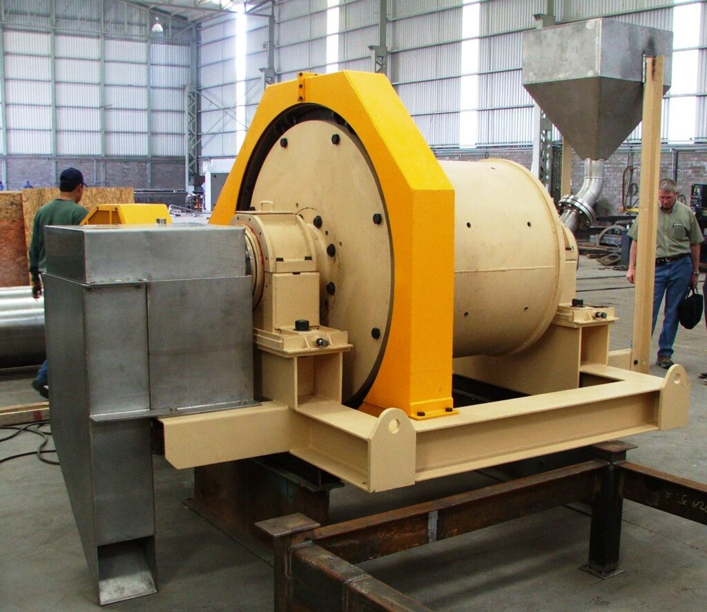 Another view of this 3x3 foot ball mill.