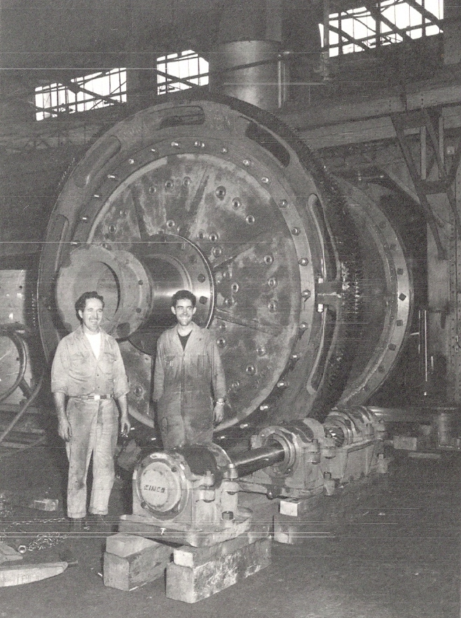 A 7.5 foot grinding mill from the early years of EIMCO.