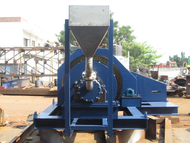 Another view of this ball mill manufactured in India.