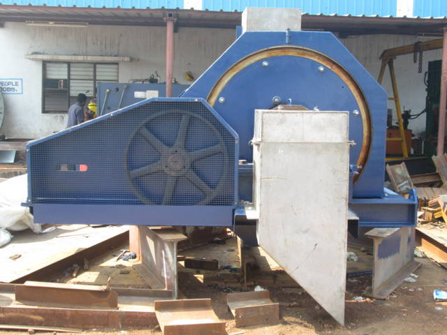 A ball mill manufactured in India.