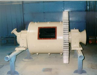 Calenergy rubber-lined mill prior to it being shipped out.